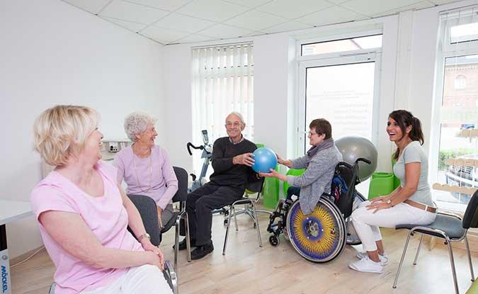 Gruppentraining mit Senioren